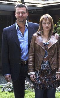 Ray Stevenson and Chiara Mastalli at the Italian photocall of