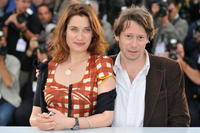 Emmanuelle Devos and Mathieu Amalric at the 61st Cannes International Film Festival.