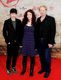 Jakob Knoblauch, Linn Reusse and Ben Becker at the premiere of
