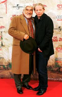 Mario Adorf and Ben Becker at the premiere of