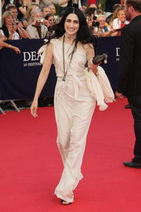 Ronit Elkabetz at the premiere of