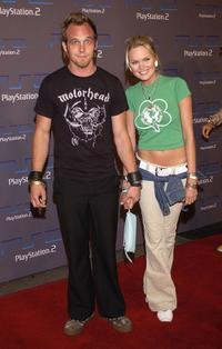 Ethan Embry and Sunny Mabrey at the Playstation 2 celebration.