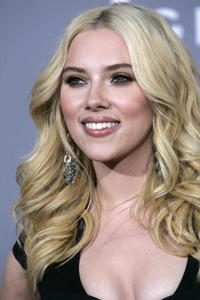 Scarlett Johansson at the 49th Grammy Awards in L.A.