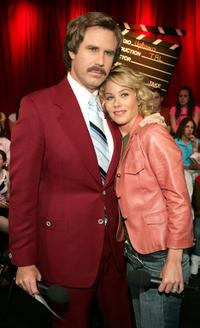 Will Ferrell and Christina Applegate at the MTV TRL Times Square Film Festival week.
