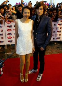 Karen Mok and Jared Leto at the MTV Asia Awards.