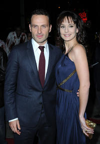 Andrew Lincoln and Sarah Wayne Callies  at the Los Angeles premiere of