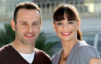 Andrew Lincoln and Sarah Wayne Callies at the photocall of
