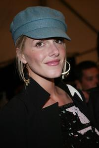 Monet Mazur at the Custo Barcelona 2004 Fall fashion show during the Olympus Fashion Week.