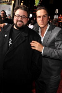 Kevin Smith and Jason Mewes at the premiere of