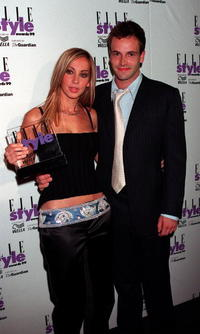 Jonny Lee Miller and Natalie Appleton at the Elle Style Awards.