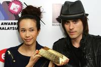 Karen Mok and Jared Leto at the MTV Asia Awards 2008.