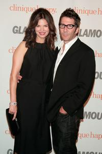 Jeanne Tripplehorn and Leland Orser at the Glamour Reel Moments party.