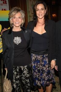 Shelia Nevins and Polly Draper at the premiere of