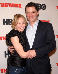 Dominic West and Amy Ryan at the HBO premiere of