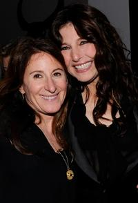 Nicole Holofcener and Catherine Keener at the after party of