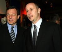 Bob Iger and Gavin O'Connor at the premiere of