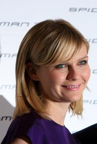 Kirsten Dunst at the Italian photocall for ''Spider-Man 3'' at the Excelsior Hotel.