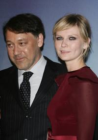 Kirsten Dunst and Sam Raimi at the ''Spider-Man 3'' premiere in Paris.