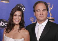 Jim Belushi and Teri Hathcer at the 56th Annual Primetime Emmy Awards.