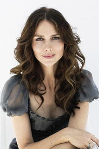 Saffron Burrows in a portrait shoot during the Cannes Film Festival.