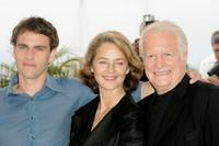 Andre Dussollier, Laurent Lucas and Charlotte Rampling at the photo call for the film