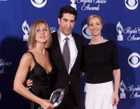 David Schwimmer, Jennifer Aniston and Lisa Kudrow at the 27th Annual People's Choice Awards.
