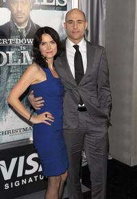 Mark Strong and Guest at the New York premiere of