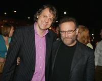 Chris Wedge and Robin Williams at the after party of the premiere of
