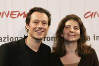 Stefano Accorsi and Julie Gavras at the photocall of