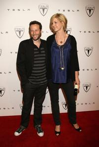 Bodhi Elfman and Jenna Elfman at the Tesla Motors LA Flagship Store Launch.