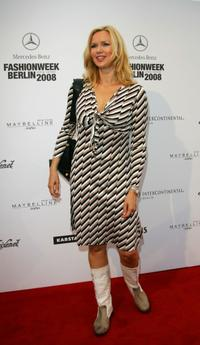 Veronica Ferres at the Sisi Wasabi fashion show during the Mercedes-Benz Fashion Week Berlin Spring/Summer 2008.