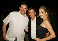 Brad Henke, Dermot Mulroney and Julie Gonzalo at the after party of the premiere of