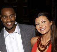 Brian Hooks and Ali Landry at the UPN Stars Party.