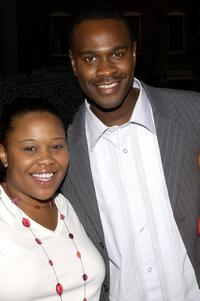 Natalie Desselle-Reid and Brian Hooks at the UPN Stars Party.