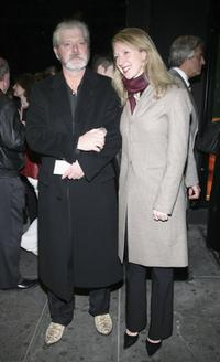 Stephen Lang and Kristina Lang at the Broadway opening of