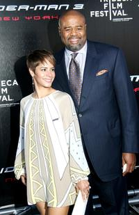 Chi McBride and Guest at the premiere of