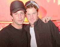 Tommy Alastra and Dash Mihok at the party of Karl Kani's