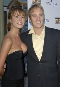 Nikki Cox and Jay Mohr at the world premiere of