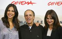 Asia Argento, Dario Argento and Moran Atias at the photocall of