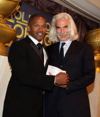 Jamie Foxx and Sam Elliott at the 2007 HFPA Installation Luncheon.