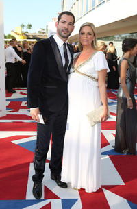 Tom Ellis and Tamsin Outhwaite at the 2012 Arqiva British Academy Television Awards.