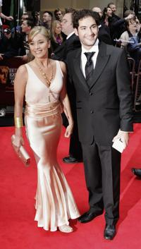 Tamzin Outhwaite and fiance Tom Ellis at the Pioneer British Academy Television Awards 2006.
