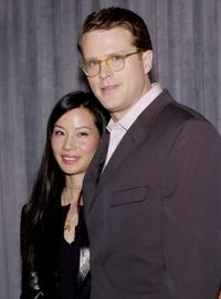 Cary Elwes and Lucy Liu at the nominations for the 7th Annual Screen Actors Guild Awards.