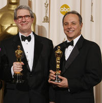 David Parker and Scott Millan at the 80th Annual Academy Awards.