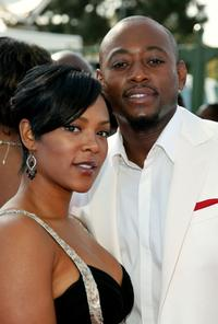 Omar Epps and wife Keisha Spivey at the 38th annual NAACP Image Awards.