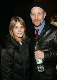 Kathryn Erbe and Terry Kinney at the after party for the opening night of