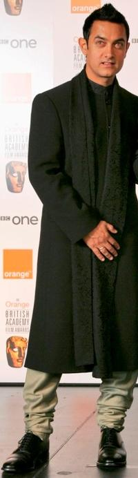 Aamir Khan at the Orange British Academy Film Awards (BAFTAs).