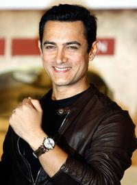 Aamir Khan at the launch of Titan Aviator series wrist watches.