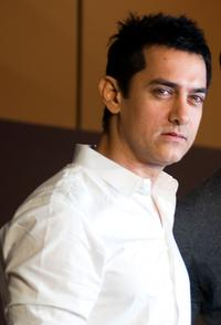 Aamir Khan at the Bollywood Revenue Share Discussion.