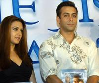 Pretty Zinta and Salman Khan at the music release of